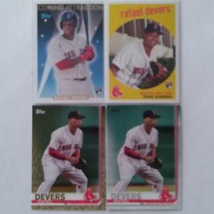2/$20 Topps Rafael Devers 4 Card LOT